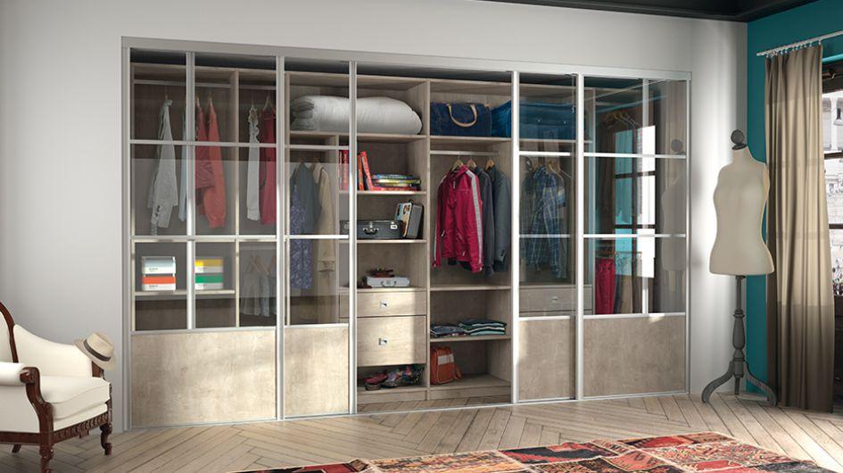 Dressing pour votre chambre portes de placard pour chambre for Acheter miroir sur mesure