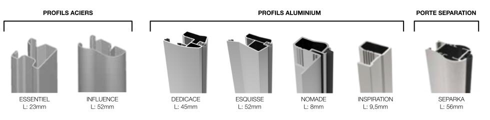 Profils aluminium et acier pour portes de placard - Profile pour porte coulissante ...
